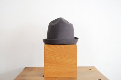mature ha/マチュアーハ back stitch wool free hat MFEL-1101(gray)