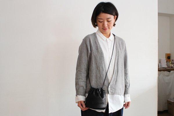 irose/イロセ net bucket bag mini BAG-N07(ブラック)