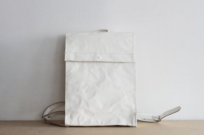 "irose/イロセ ""BLANK CANVAS"" RUCK SACK BAG-BC02(ホワイト)"