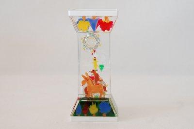 【再入荷】プレイタイマー 約3分 オイル時計 ブレーメンの音楽隊 Illustrated by 平井さくら