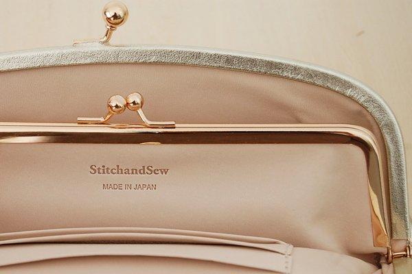 StitchandSew/ステッチアンドソー がま口長財布(ゴールド)