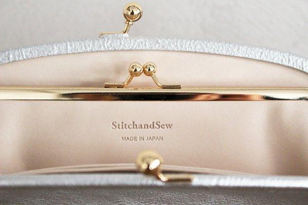 StitchandSew/ステッチアンドソー がま口長財布(シルバー)