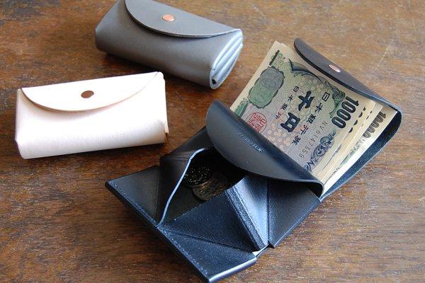 hirari 平山篤 Coin Purse (ナチュラル) 小さなお財布 小銭入れ