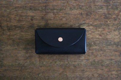 【受注生産品 納期2ヶ月】hirari / 平山篤 Coin Purse(BLACK)小さなお財布