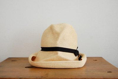 mature ha. / マチュアーハ BOX HAT MBOX-101(natural×black 11cm)