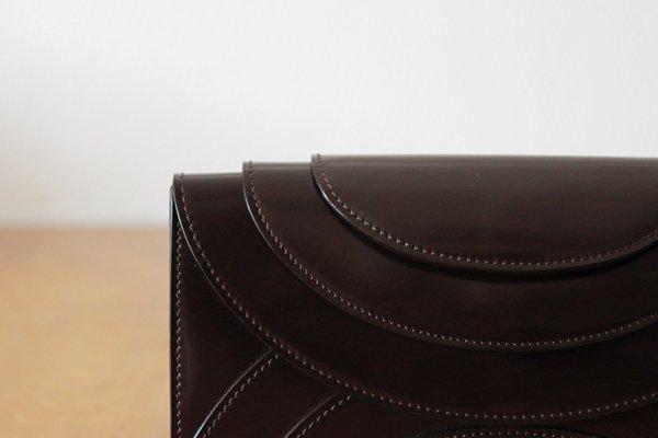 irose/イロセ FOLD 3F WALLET ストラップ付き長財布(エナメル・ブラウン)