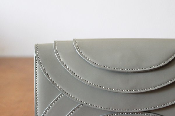 irose/イロセ FOLD 3F WALLET ストラップ付き長財布(エナメル・グレー)