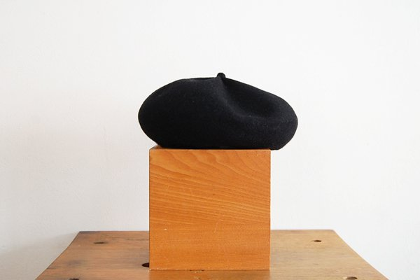 mature ha/マチュアーハ beret top gather big MKF-2001(black)
