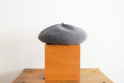 mature ha/マチュアーハ beret top gather big MKF-2001(gray)