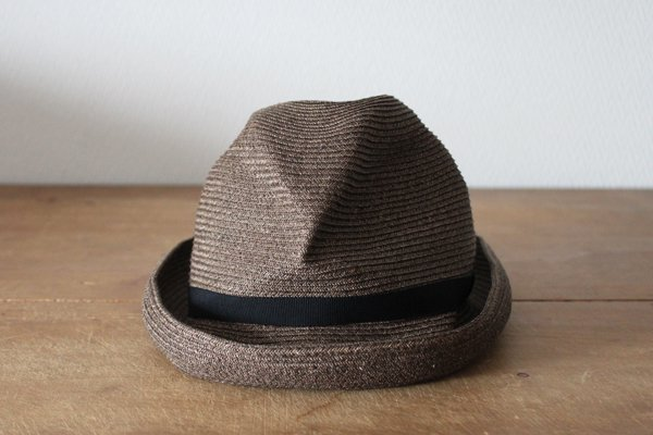 mature ha. / マチュアーハ BOXED HAT MBOX-104(dark brown×black 7cm)