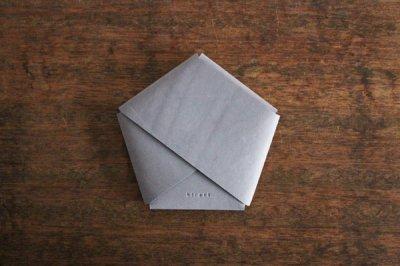 【受注生産品 納期2ヶ月】hirari 平山篤 CARD CASE カードケース(LIGHT GRAY)