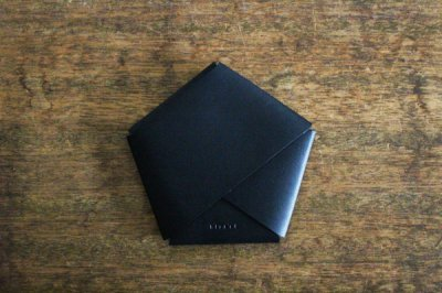 【受注生産品 納期2ヶ月】hirari 平山篤 CARD CASE カードケース(BLACK)
