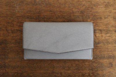 【受注生産品 納期2ヶ月】hirari / 平山篤  WALLET(LIGHTGRAY)長財布