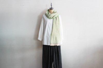 Suno&Morrison/スノ アンド モリソン ガラ紡 マフラー  20×190cm(Light Green)