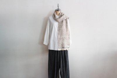Suno&Morrison/スノ アンド モリソン ガラ紡 マフラー  20×190cm(Gray)