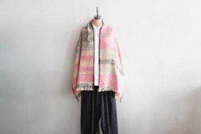 Suno&Morrison/スノ アンド モリソン ガラ紡 ミディアム ストール 50×190cm(Mix brown-Pink)