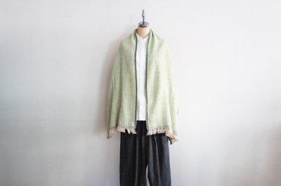 Suno&Morrison/スノ アンド モリソン ガラ紡 ミディアム ストール 50×190cm(Light Green)