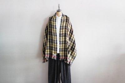 Suno&Morrison/スノ アンド モリソン ガラ紡 ミディアム ストール 50×190cm(Lime Check)
