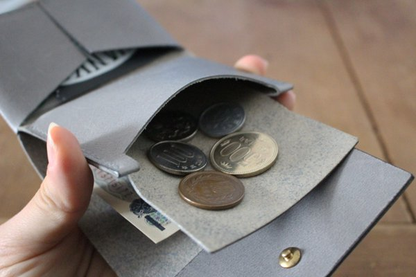 【受注生産品】hirari / 平山篤 Coin Purse(NAVY)小銭入れ お財布