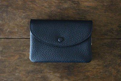 STUDIO LA CAUSE スタジオラコーズ  内縫いフラップ財布M(NAVY)【予約販売 12月下旬頃のお届けです】