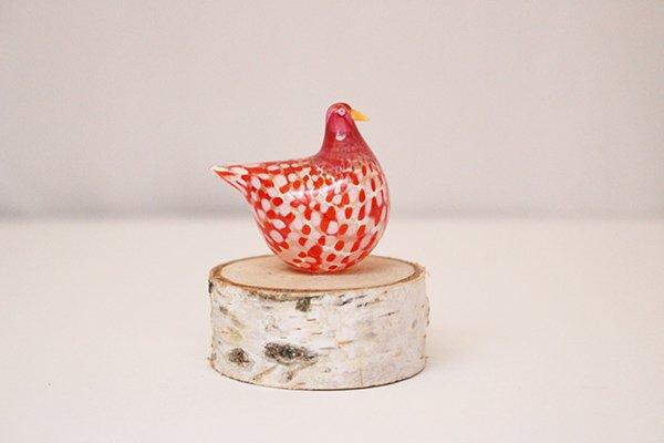 PUTURU プトゥル /高村絢子 ガラスの鳥(赤ドット)