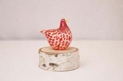 Takamura Glass Works /高村絢子 ガラスの鳥(赤ドット)