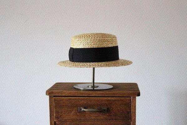 田中帽子店 鬼麦カンカン帽(ナチュラル) UK-H048(57.5cm)