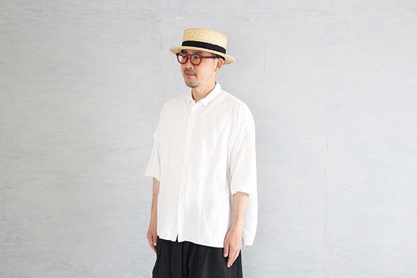 田中帽子店 Marin/h マラン/オム 紳士用カンカン帽子(ブラック) UK-H047(60.0cm)