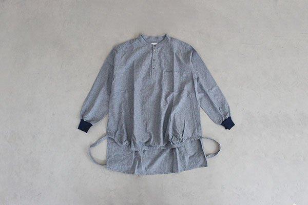 【受注商品】motone  エンゲイシャツ(ストライプ・ネイビー・薄手)ユニセックス S・M・L(1週間〜2週間後のお届け)