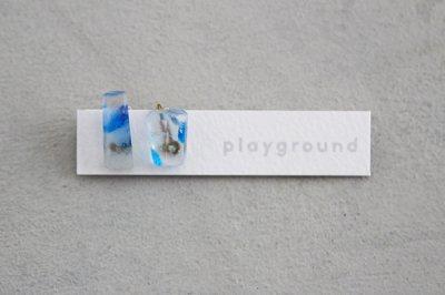 playground イヤリング (blue) -04-