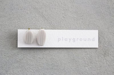 playground イヤリング (white) -05-