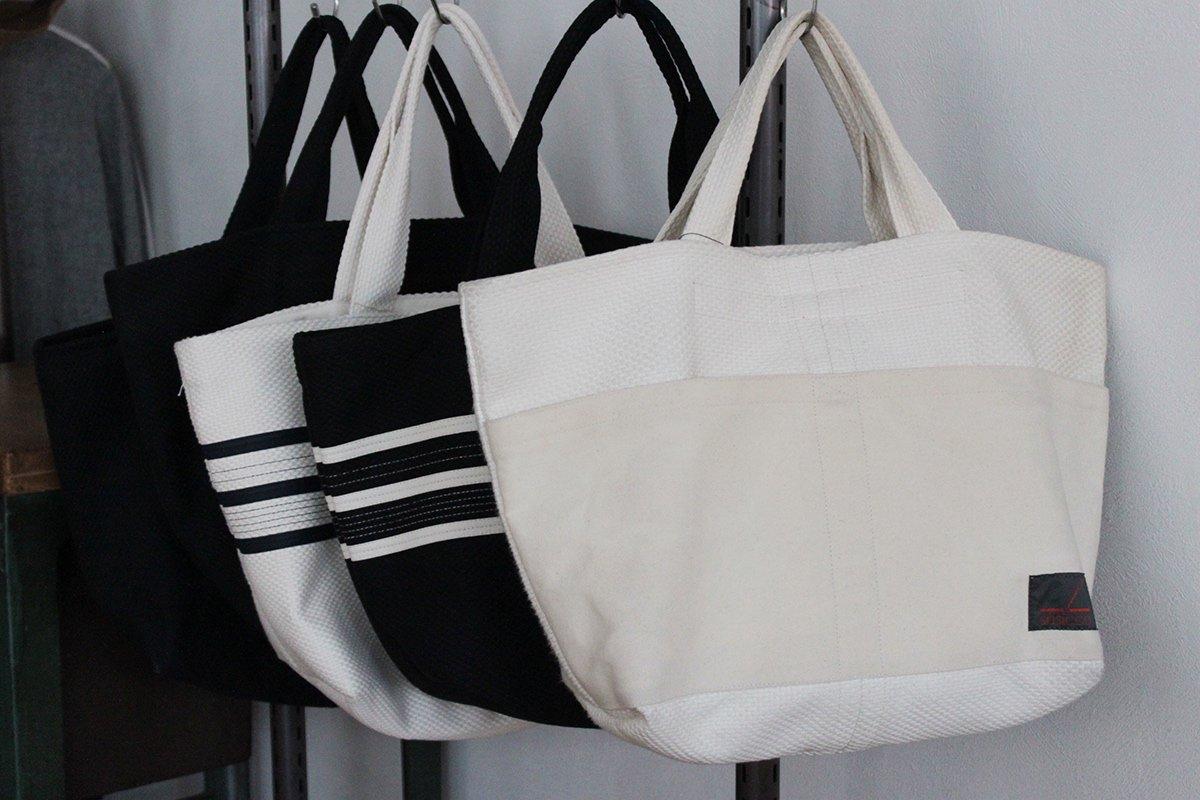 TANEI/タネイ 刺し子織り トートバッグ20(キナリ)