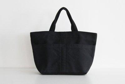 TANEI/タネイ 刺し子織り トートバッグ20(ブラック)