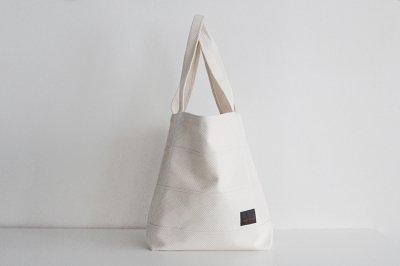 TANEI/タネイ 刺し子織り トートバッグ40(キナリ)