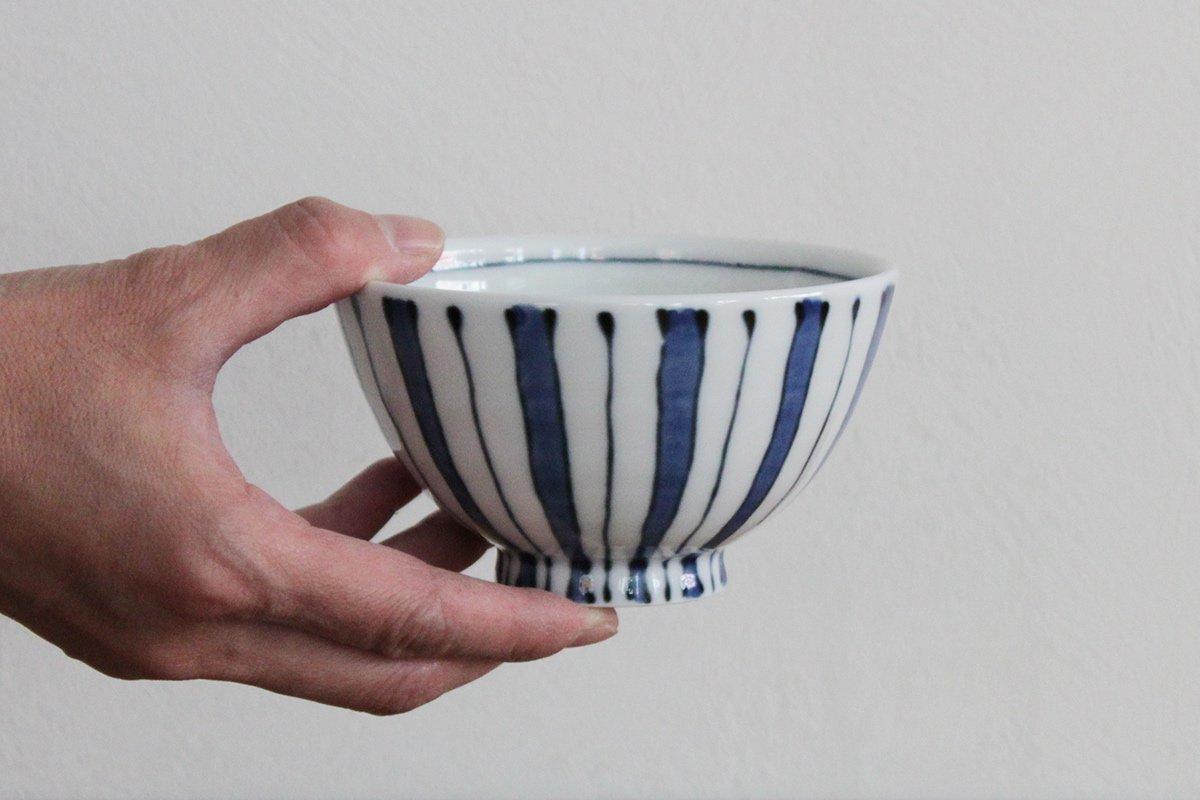 波佐見焼 白山陶器 染たて縞 お茶碗