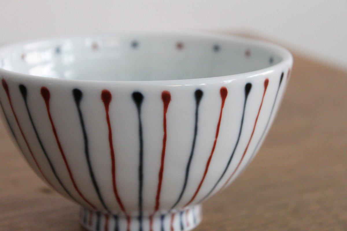 波佐見焼 白山陶器 二色十草 お茶碗