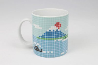 The Porcelains 大図まこと 富士山タイルマグ 大