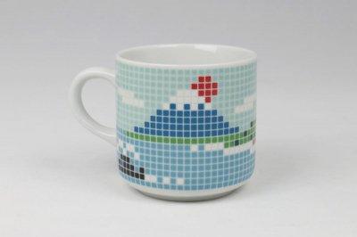 The Porcelains 大図まこと 富士山タイルマグ 小