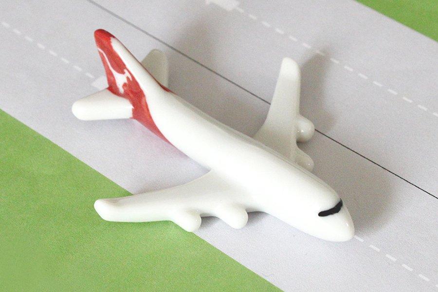 飛行機箸置き  (カンタス航空QF B747-400)