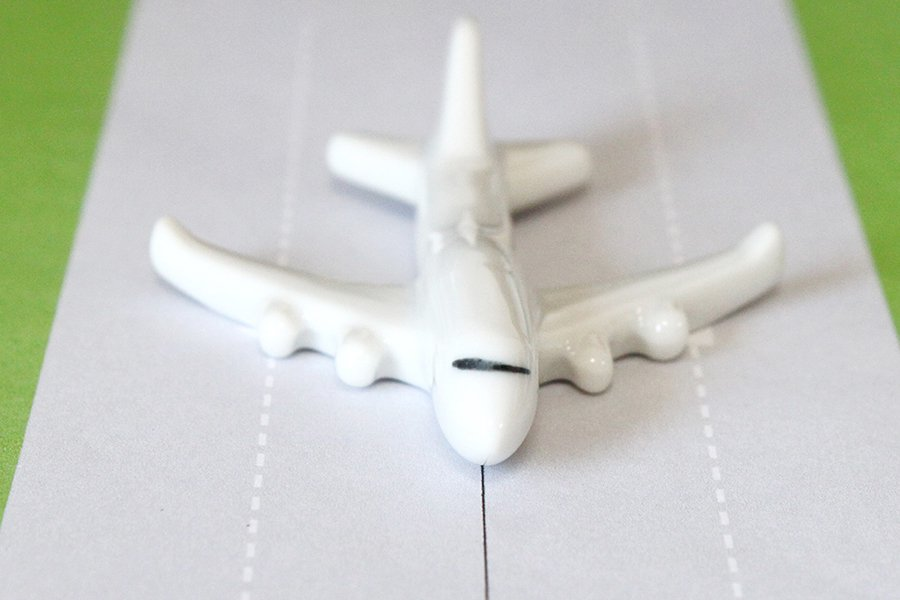 飛行機箸置き  (無地B747)