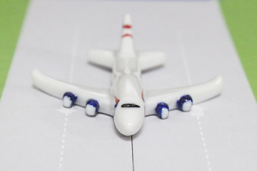 飛行機箸置き (ブリティッシュエアライン/BA B747-400)
