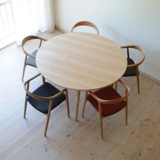 直径130cm、丸ダイニングテーブル5本脚(早割5%オフ適用)