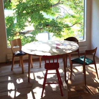 直径120cm、丸ダイニングテーブル4本脚(早割5%オフ適用)