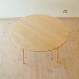 直径130cm、丸ダイニングテーブル4本脚(早割5%オフ適用)