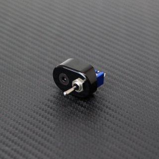 マイクロ ハンドルスイッチ シングル ブラック 22.2mm用 トグルスイッチ ON-ON/ON-OFF