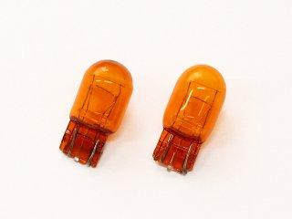 カラーバルブ アンバー オレンジ T20 12V 21/5W 2個セット オレンジバルブ