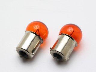 カラーバルブ アンバー オレンジ G18 12V 10W 2個セット オレンジバルブ