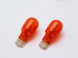 カラーバルブ アンバー オレンジ T16 12V 16W (18W) 2個セット オレンジバルブ