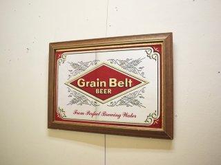 ビンテージ  Grain Belt BEER パブミラー
