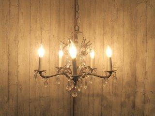 ビンテージ スペイン製 5灯シャンデリア